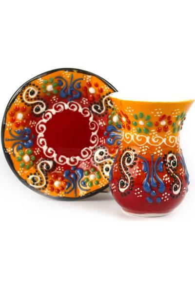 Kütahya Birlik Çini ve Seramik - Otantik Çini Çay Bardağı Seti