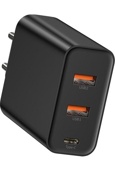 Baseus Pps Three Output 4.0 3.0 Hızlı Şarj (C + U + U ) 60W Şarj Aleti Başlık