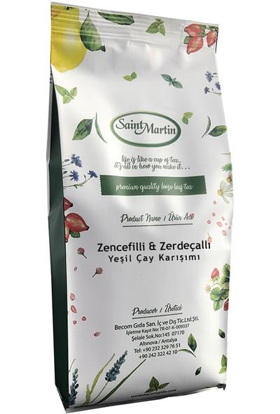 Saint Martin Zencefilli Zerdeçallı Dökme Yeşil Çay 250 gr