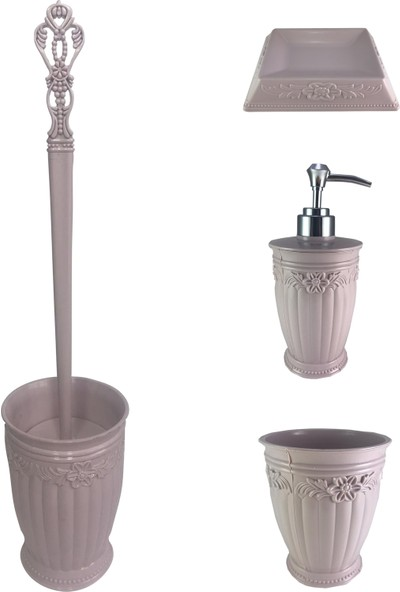 Orkidetr Tuvalet Banyo Seti 4'lü
