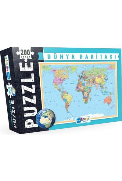 Blue Focus Dünya Haritası 200 Parça Puzzle