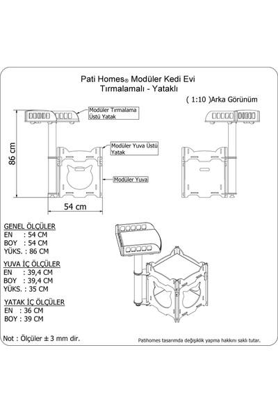 Pati Homes Modüler Kedi Evi Yatak + Tırmalama