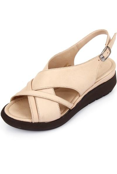 Gön Deri Kadın Sandalet 45322
