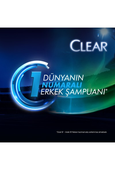 Clear Men Cool Sport Menthol Erkek Şampuan 600 ml x4