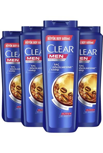 Clear Men Saç Dökülmesine Karşı Şampuan 600 ml x4