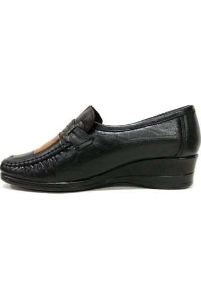 Filik 104 Siyah Kahverengi Comfort Kadın Ayakkabı