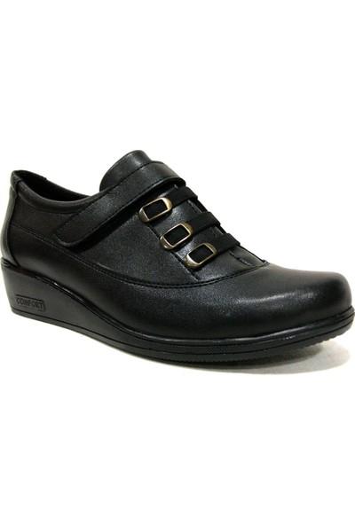 Yükseksoy 522 Siyah Dolgu Topuk Comfort Kadın Ayakkabı