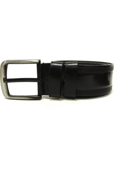 Shoepi 383 Siyah Deri Erkek Kemer