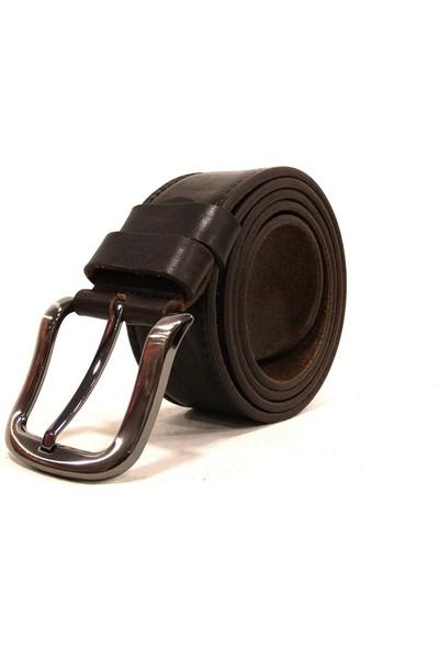 Shoepi 012 Kahverengi Deri Klasik Erkek Kemer