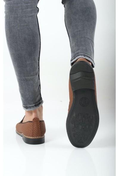 Oksit Jayce Hasır Görünümlü Erkek Loafer Ayakkabı
