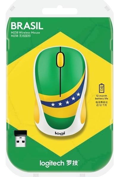 Logitech M238 Fan Collection - Brasil Wireless Mouse 910-005398