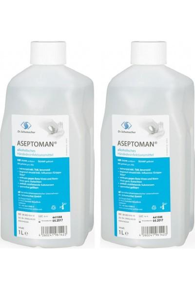 Aseptoman El ve Cilt Dezenfektanı 1 l x 2 Adet