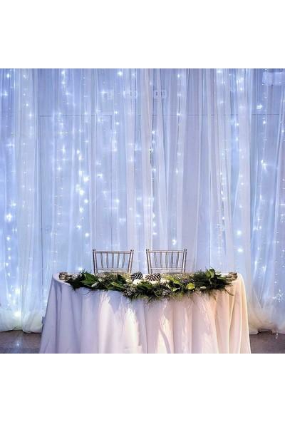 Patladı Gitti Perde Led Işıklar Animasyonlu Kumandalı Fişli 3 x 2 m Beyaz