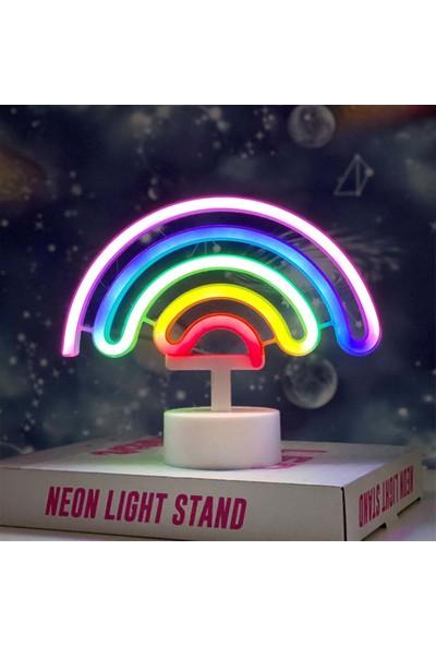Patladı Gitti Dekoratif Gökkuşağı Neon Led Gece Lambası