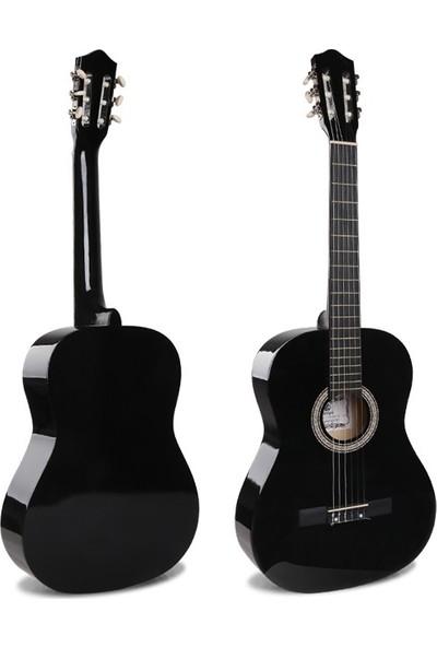 Sanchez 4/4 Sap Ayarlı Klasik Gitar Seti (Gitar-Kılıf-Metot-Pena) - Siyah