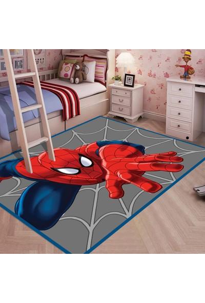 Ahsen Halı Örümcek Adam Spiderman Figürlü Kaymaz Taban Çocuk Halısı