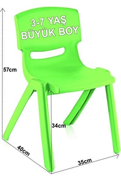 Banadabul Fiore Çocuk Masa Sandalye Takımı Yeşil Alfabe H50