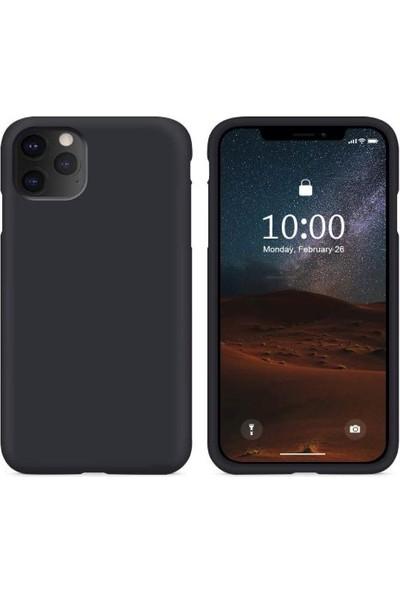 Mahzen Apple iPhone 11 Pro Max Logosuz Lansman Kılıf Siyah