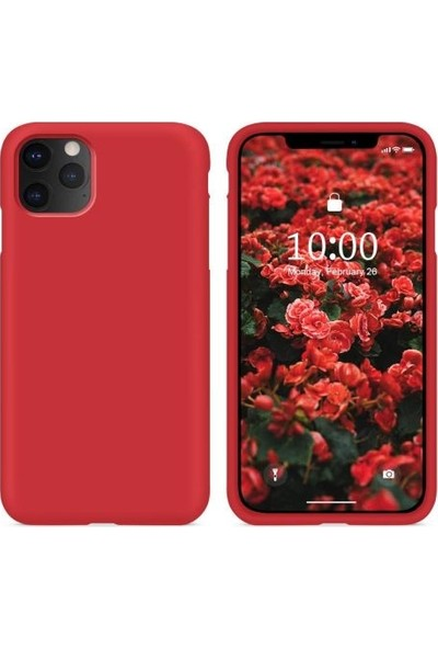 Mahzen Apple iPhone 11 Pro Logosuz Lansman Kılıf Kırmızı