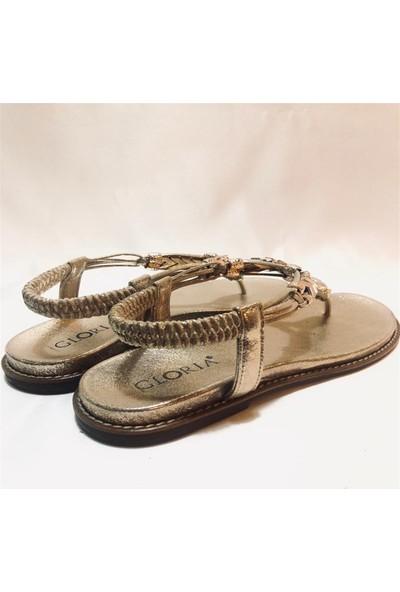 Gloria Sandalet Gold Ayakkabı 40