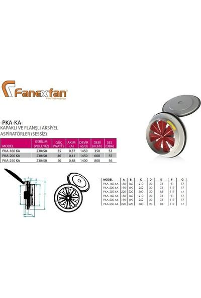 Fanex PKA-160 Ka Kapaklı Aksiyel Aspiratör