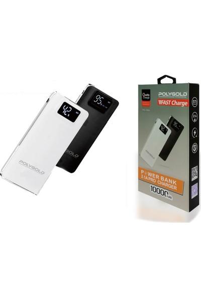 Polygold Powerbank Pro Quality Charge 2.1 Amper Led Ekranlı Fast Charge 10.000mAh Pg 7064