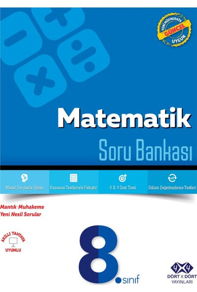 Dört Çarpı Dört Yayınevi 8.Sınıf Matematik Soru Bankası