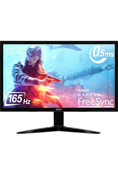 "Acer KG241QS 23.6"" 165Hz 1ms (HDMI+Display) FreeSync Full HD Monitör UM.UX1EE.S01"