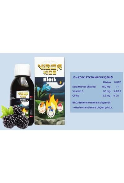 Vigor Kids Black Şurup (Kara Mürver Ekstresi, Vitamin C, Çinko, Içeren Takviye Şurubu)