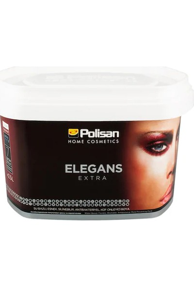 Polisan Elegans Extra Yarı Mat Beyaz Renk 15 Lt 20 kg