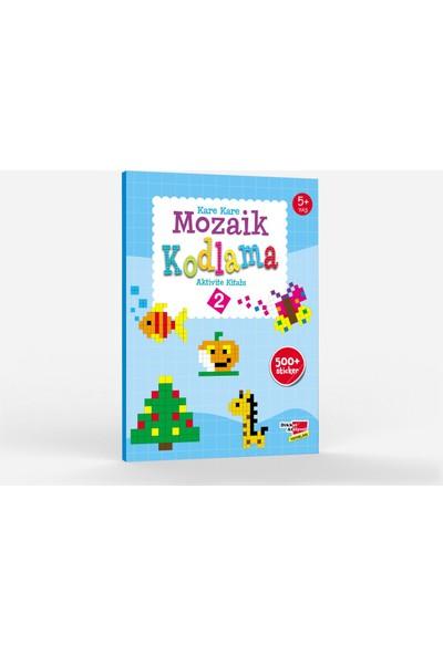 Okul Öncesi Stickerlı Kare Kare Mozaik Kodlama Kitabı - 2 Kitap