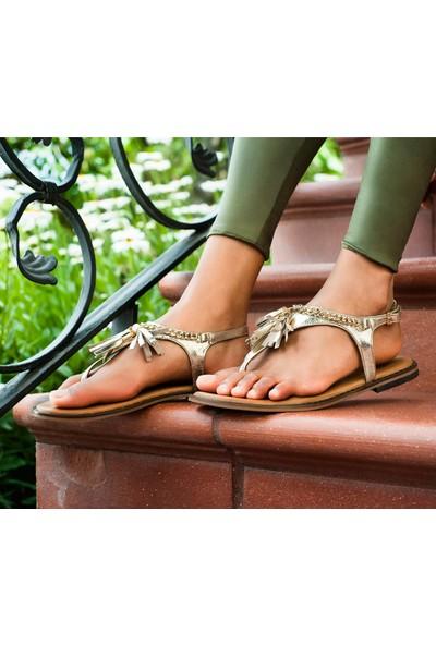 Desa Sonate Kadın Deri Sandalet