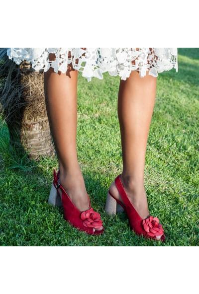 Desa Freya Kadın Süet Topuklu Sandalet