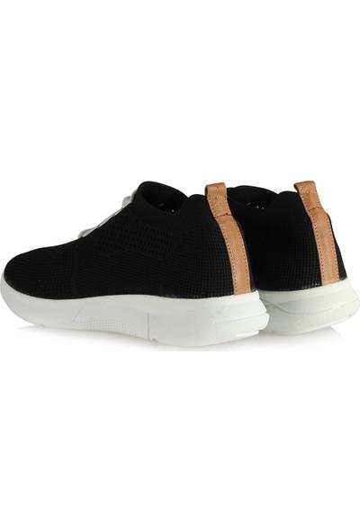 37 Numara Spor Ayakkabı Siyah Bağcıklı Streç 42
