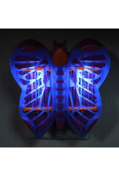 Xolo 4 Led'li Elektron Sivri Sinek Kovucu Kelebek Şeklinde Mini Taşınabilir