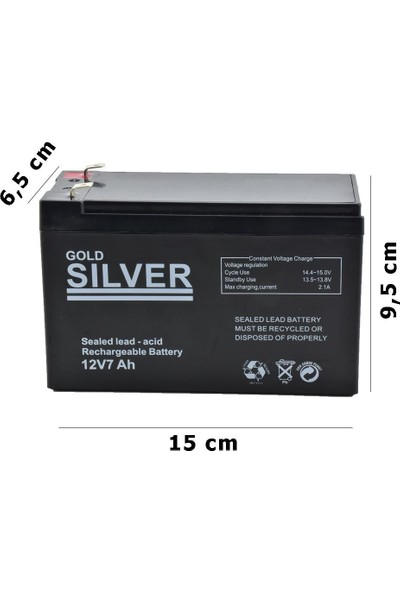 Gold Silver Akü 12V-7AH