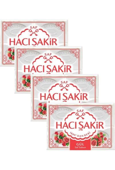 Hacı Şakir Gül Kalıp Sabun 4 x 150 gr x 4 Adet