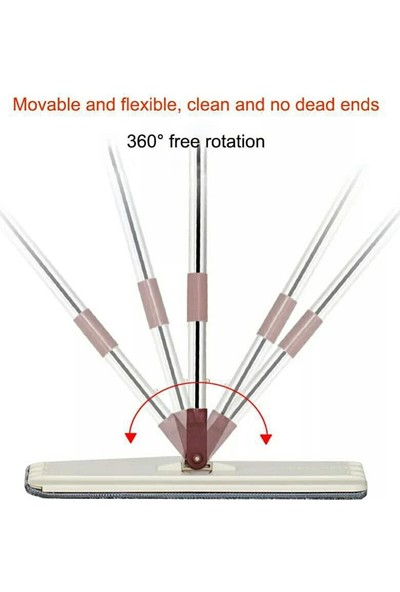 Spin Tablet Mop Microfiber Paspas Sihirli Temizlik Seti + 4 Adet Bez
