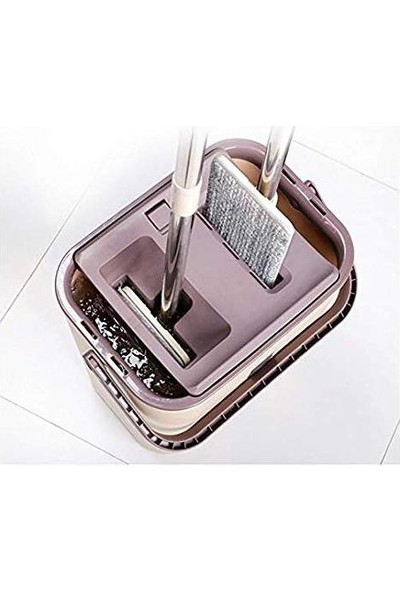 Spin Tablet Mop Microfiber Paspas Sihirli Genel Temizlik Seti + 4 Yedek Microfiber Bez