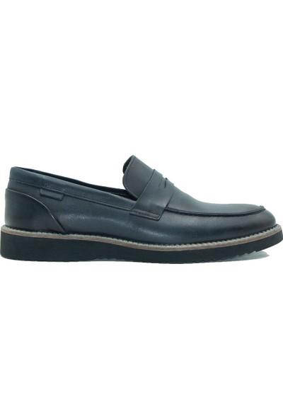 Kemudo Erkek Deri Günlük Ayakkabı 013 Lacivert