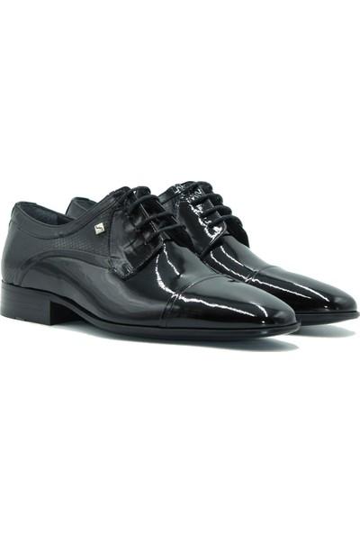 Fosco Erkek Deri Klasilk Ayakkabı 1102 Siyah.Rugan