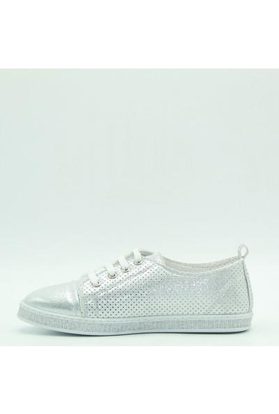 Park Moda Kadın Günlük Ayakkabı 54-201 Gümüş