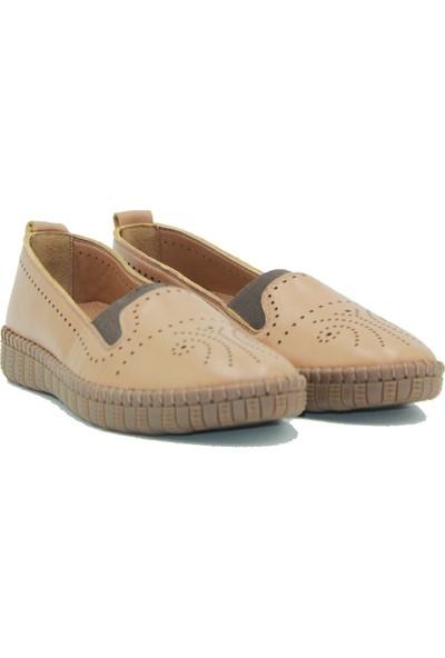 Stella Kadın Deri Günlük Ayakkabı 20204 Taba
