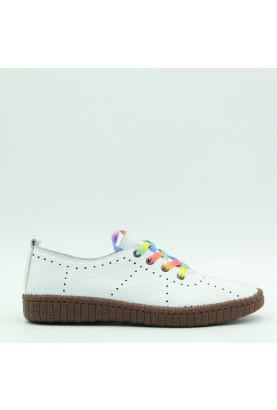 Stella Kadın Deri Günlük Ayakkabı 20206 Beyaz