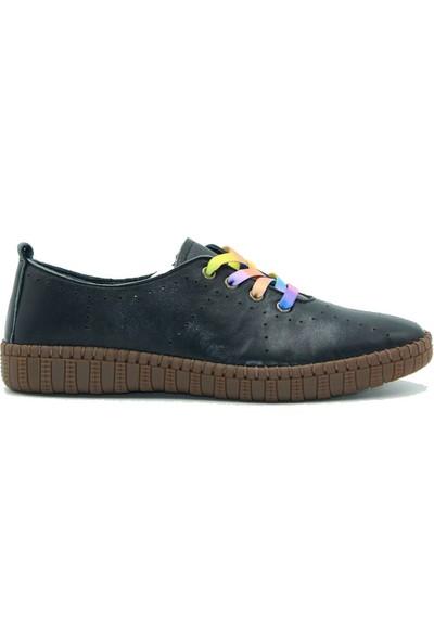 Stella Kadın Deri Günlük Ayakkabı 20206 Siyah
