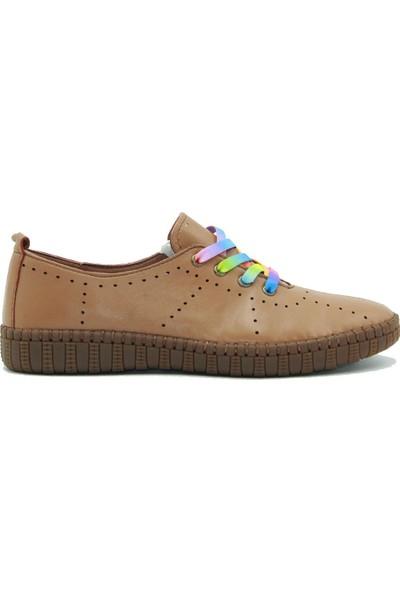 Stella Kadın Deri Günlük Ayakkabı 20206 Taba
