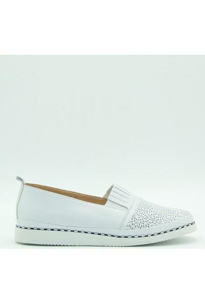Stella Kadın Deri Günlük Ayakkabı 20238 Beyaz