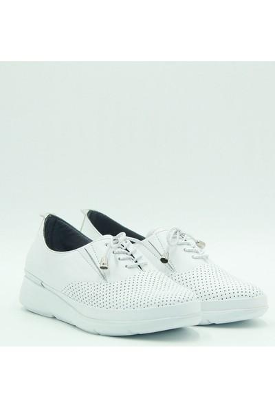 Stella Kadın Deri Günlük Ayakkabı 20257 Beyaz