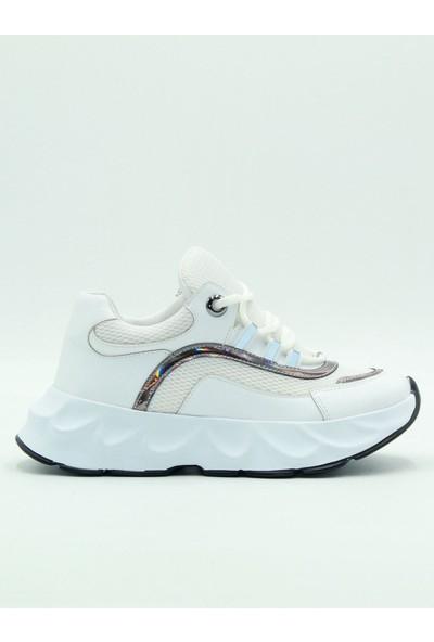 Park Moda Kadın Yüksek Taban Spor Ayakkabı 173-800 Beyaz.Cilt