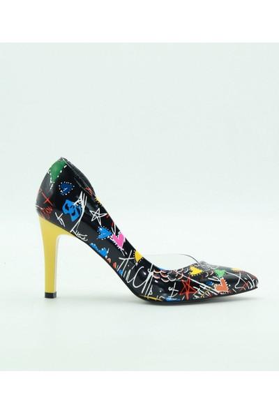 Park Moda Kadın Topuklu Ayakkabı K-653-1 Siyah